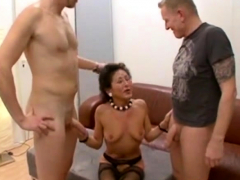 German MILF creampie added to facial