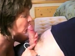 Grandma significant a zooid plus somewhat blowjob to say no to lover
