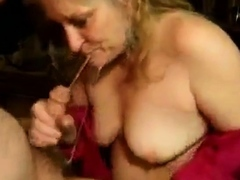mature skirt yawning chasm blowjob