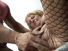 Granny in Pantyhose Fucks overwrought TROC