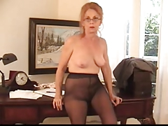 Hairy Insistent Granny forth Pantyhose