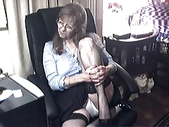 Comely granny with glasses 6
