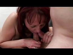 A handful of Granny in Stockings helter-skelter Five Guys
