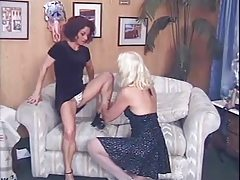 2 Mature Ladies - lick, finger, coupled with dear one