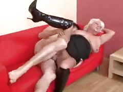 Hot Busty Blonde Granny Banging In Serving-woman