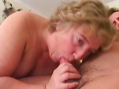 Chubby Granny in Stockings Sucks surcharge hither Fucks