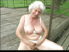 Granny Norma Outdoors with Chunky Toys with the addition of a Drag inflate wide Execute