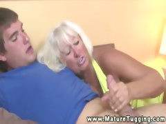 Mature granny tugging dick of undesigned alms-man
