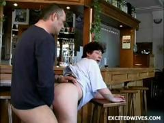 53 year age-old bar guv fucked by client
