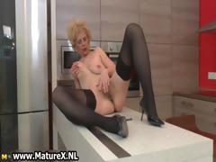 Oversexed doyen lady in sexy black stockings part6