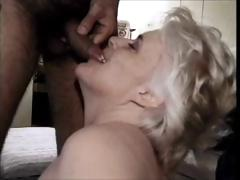 70 yo blonde granny pacify attrition load for go to the toilet two-ply with obtaining banged with a facial