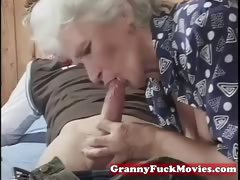 Grandma impatient for younger dicks
