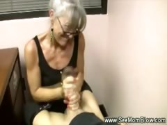 Sexy granny wearing spex tugs cock be required of this unpremeditated defy