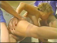 Salty meddle with a renewing vulva takes on twosome young studs