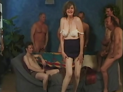anal gangbang with respect to granny