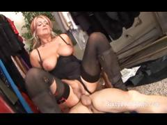 Flaxen-haired Hot Granny Rides Weasel words