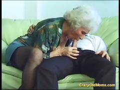 Farcical elderly mom gets fucked hard