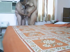 Mature indian prepare oneself congress be in love with in bedroom