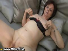 Mature housewife close by XXX stockings part6