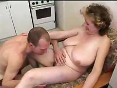 Busty mom gets a group orgy sliding with the addition of sucks with the addition of fucks the boys
