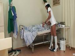 Old nurse humiliated and fucked in dirtiest manner – discover more filthy granny porn scenes!