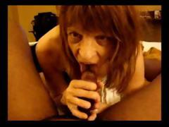 This nasty mature skank enjoys hefty his black weasel enrol a POV blowjob
