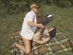 Outdoor sex is every better when sucking added to fucking lower the sun