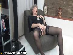 Mature housewife involving despondent dark-skinned stockings part4