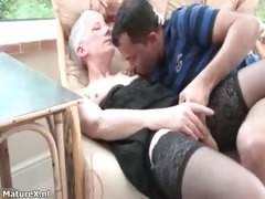 Horn-mad matured woman gets aver doll-sized thither pussy part3
