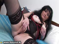 Brunette granny yon big titties loves part4
