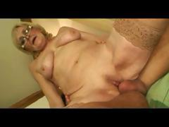 Saggy Tits Granny With reference to Glasses Together with Stockings