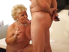 Hot Blonde Granny Smoking Sex