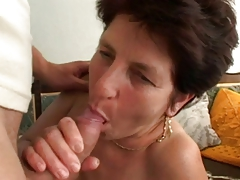Hairy Brunette Granny Fucking at hand Young by TROC