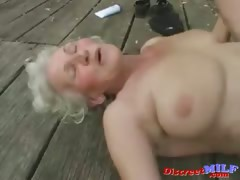 Mature granny realize fucked by young man