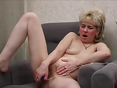 Ugly mom with small adipose tits performance their way hairy cunt
