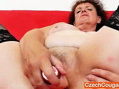 Big milf intense solo