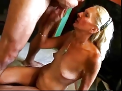 HOT FUCK #27 (Blonde Granny fucked good insusceptible to the Floor)