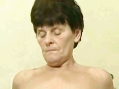 Russian granny shafting hard by young guy