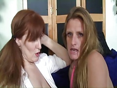 Saggy Teat Mature TJ And Redhead Granny StrapOn Session