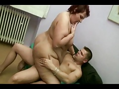 Big Pain in the neck Mature BBW Fucked
