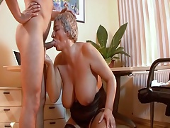 Hungarian Shorthair-Granny with Huge-Boobs overwrought young Guy