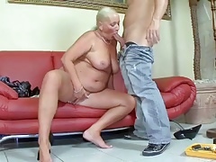 for detail blond granny gets fucked by young dick