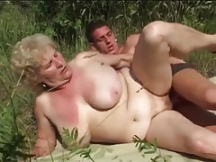 Broad in the beam Tit Granny Shafting Outdoors