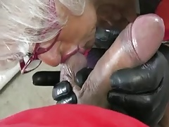 Granny Handjob #2 (Pizza Boy getting chum around with annoy proper Payment)