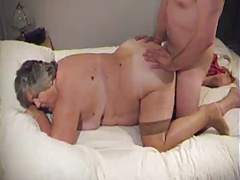 BBW granny doggy and facial