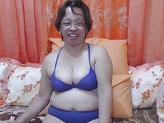 Asian Granny with Glasses Webcam