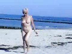 Cute hot granny genuinely naked at beach. Put over a produce nudity