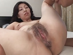 Horny Asian grannies serving huge fat cocks with all their fucking holes for you!