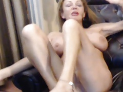 Busty 56 year old MILF complain teasing on webcam