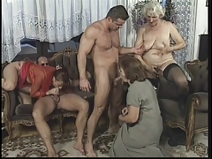 Wild Mature orgy thither buzzing scope with big dick studs